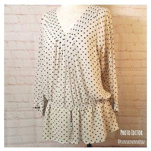 ■Ellen Tracy■ (XL) Polka Dot Blouse